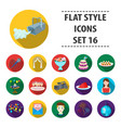 event service set icons in flat style big vector image vector image