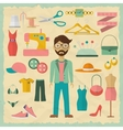Fashion designer male character design with vector image