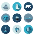 flat icons Arctic vector image vector image