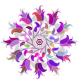 Floral circular pattern vector image vector image