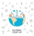 global startup concept vector image vector image