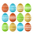 golden color easter eggs isolated on white vector image vector image