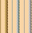 Golden silver white rope seamless pattern vector image vector image
