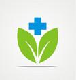 green leaf organic medicine company logo vector image vector image