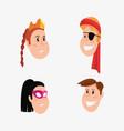 halloween people customes vector image