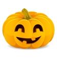 Halloween pumpkin Smiling Jack-O-Lantern on a vector image vector image