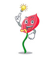 have an idea pink anthurium flowers in character vector image