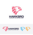 hawk head logo design vector image
