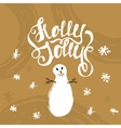 Holly Jolly- unique handwritten lettering with vector image