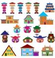 House cartoon set vector image vector image