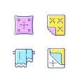 household cloth rgb color icons set vector image vector image