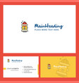 hydrant logo design with tagline front and back vector image