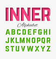 inner shadow font vector image