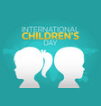 international childrens day logo icon design vector image vector image