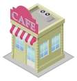 Isometric cafe building vector image vector image