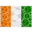 Ivory Coast soccer balls vector image vector image