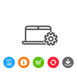 laptop computer icon notebook service sign vector image vector image
