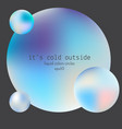 liquid colors glowing circles decorative design vector image vector image