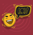 lol lots of laughs with laughing face vector image vector image