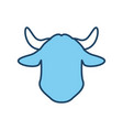 milk cow head symbol vector image vector image