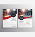 modern red business flyer poster design template vector image vector image