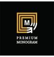 modern template monogram emblem logo symbol vector image