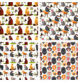 monkey character animal breads seamless pattern vector image