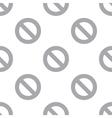 New Ban seamless pattern vector image vector image