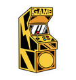 old classic game machine for play retro video game vector image