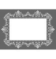ornament photo frame vector image