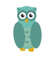 Owl bird icon flat vector image