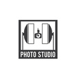 photo studio design template vector image vector image