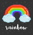 pixel rainbow vector image vector image