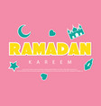 ramadan kareem greeting background with vector image vector image