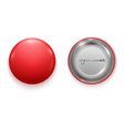realistic blank red badge vector image vector image