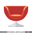 Red modern armchair over white background Digital vector image vector image