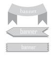 retro ribbon baner vector image vector image