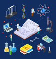 science laboratory isometric chemical vector image