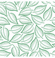 seamless pattern leaves contours vector image