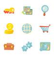 seo icons set cartoon style vector image vector image