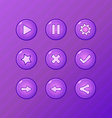 set game ui elements - violet play pause options vector image vector image