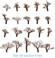 Set of Trees Design vector image vector image