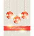 shiny christmas ball vector image vector image