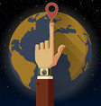 Smart watch Earth vector image vector image