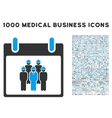 Staff Calendar Day Icon With 1000 Medical Business vector image vector image