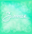 summer time green bokeh background vector image