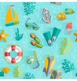 Summer tropical vacation seamless pattern vector image vector image