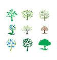 tree landscapes nature logo design vector image vector image