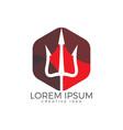 trident logo design vector image
