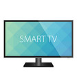 tv flat screen realistic vector image